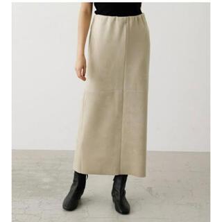 アズールバイマウジー(AZUL by moussy)のアズールバイマウジーフェイクスエードスリットスカート(ロングスカート)