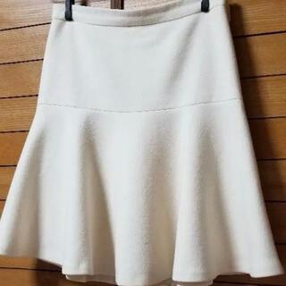 23区 - 23区 オンワード樫山 オフホワイト 白色 白 膝丈スカート フレアスカート L