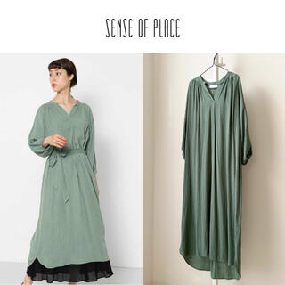 SENSE OF PLACE by URBAN RESEARCH - SENSE OF PLACE スキッパーギャザーワンピース