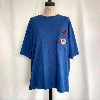 サンタモニカ(Santa Monica)のVintage 90s WARNERBROS ワーナーズ 刺繍ポケットTEE(Tシャツ/カットソー(半袖/袖なし))