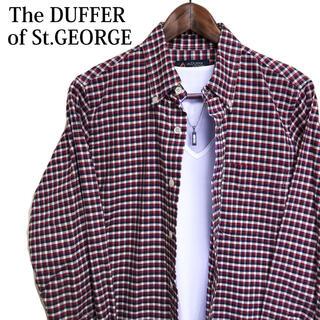 ザダファーオブセントジョージ(The DUFFER of ST.GEORGE)のTHE DUFFER OF ST. GEORGE チェックシャツ 長袖シャツ 赤(シャツ)