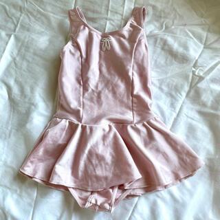 チャコット(CHACOTT)の美品 チャコット スカート付きレオタード ピンク 120(ダンス/バレエ)