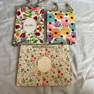 【まとめ売り】紙袋 3点 花柄・ポップ柄(価格再々変更)