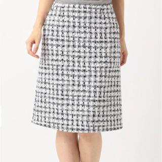 23区 - 23区 CLALENSON チェックツイード スカート 試着のみ 大きいサイズ