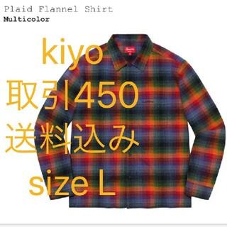 Supreme - sizeL supreme plaid flannel shirt