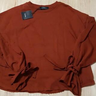 ベルシュカ(Bershka)の新品BershkaMトレーナー長袖 袖デザイン コットン オーバーサイズ(トレーナー/スウェット)