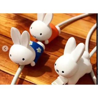 Apple - ミッフィー   miffy   ケーブルバイト ブルー 青 花柄