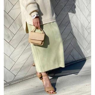 Spick and Span - スピック★ フェイクスエードストレッチタイトスカート★グリーン 36サイズ
