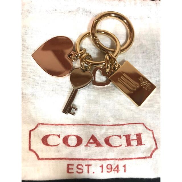 COACH(コーチ)の【COACH コーチ】中古 キーホルダー ハート(他) ゴールド レディースのファッション小物(キーホルダー)の商品写真