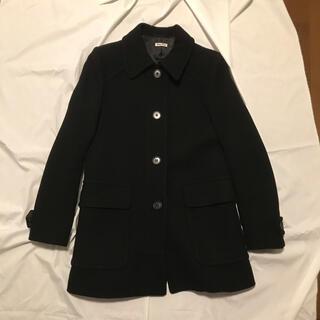 miumiu - miumiu  シンプルなコート 黒 42