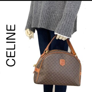 celine - CELINE セリーヌ マカダム柄 ハンドバッグ PVC レザー ブラウン 茶系