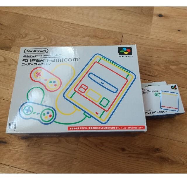 任天堂(ニンテンドウ)のスーパーファミコンミニ本体 + USB ACアダプター エンタメ/ホビーのゲームソフト/ゲーム機本体(家庭用ゲーム機本体)の商品写真