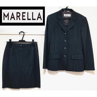 マックスマーラ(Max Mara)の【イタリア製】MARELLA(マレーラ)ストライプ ウールスーツ セット(スーツ)