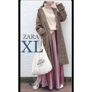 ZARA - 【新品・未使用】ZARA サテン ロングスカート  XL