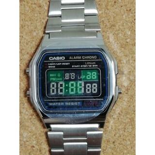 カシオ(CASIO)の市松模様【竈門炭治郎の羽織り風】チープカシオ腕時計 A158W-1JF(腕時計(デジタル))