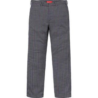 Supreme - 18ss 極美品 grey plaid 30 supreme work pant