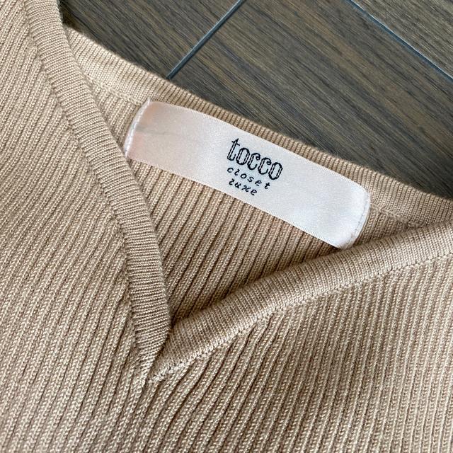 tocco(トッコ)のtocco 今季完売コラボニットワンピース 試着のみ 美品 格安 レディースのワンピース(ひざ丈ワンピース)の商品写真