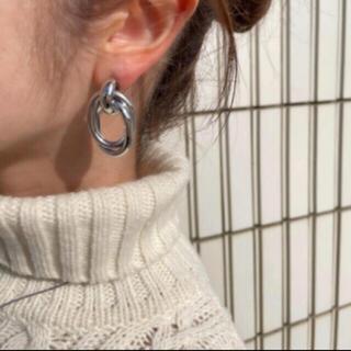 アズールバイマウジー(AZUL by moussy)のSALE!metal clip earrings-silver-(イヤリング)