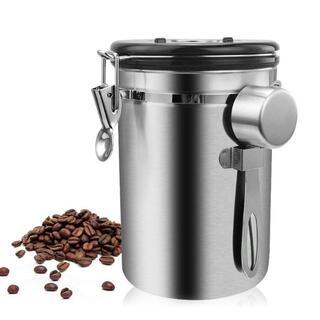 コーヒー豆 容器 ステンレス鋼 気密 密閉型(その他)