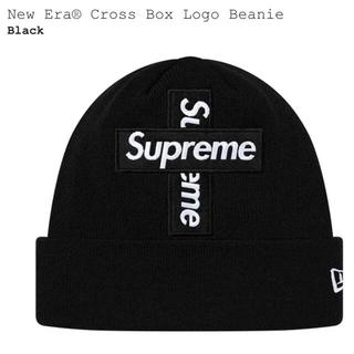 シュプリーム(Supreme)のSupreme New Era® Cross Box Beanie Black(ニット帽/ビーニー)