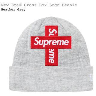 シュプリーム(Supreme)のSupreme New Era® Cross Box Beanie Gray(ニット帽/ビーニー)
