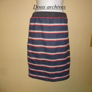 ドゥアルシーヴ(Doux archives)のDoux archivesドゥアルシーヴ♡ボーダースエットスカート(ひざ丈スカート)