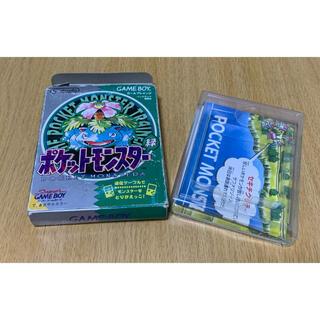 ニンテンドウ(任天堂)の【箱のみ】ポケットモンスター 緑バージョン(携帯用ゲームソフト)