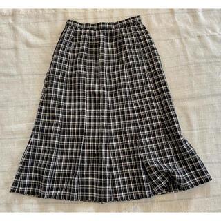 レリアン(leilian)のLeilian プリーツスカート モノトーン チェック 7(ひざ丈スカート)