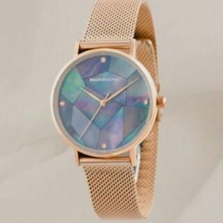 ダニエルウェリントン(Daniel Wellington)の✨新品未使用✨ブルッキアーナ 腕時計 レディース  ブラックパールローズゴールド(腕時計)