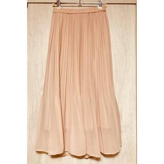 UNIQLO - ユニクロ シフォンプリーツスカート ピンクs
