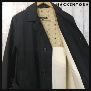 マッキントッシュ(MACKINTOSH)のMACKINTOSH ステンカラー コート ゴム引き トレンチ ベルト付き 黒(ステンカラーコート)