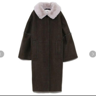 fur fur - 新品未使用 ファーファー furfur エコファーカラーコクーンコート