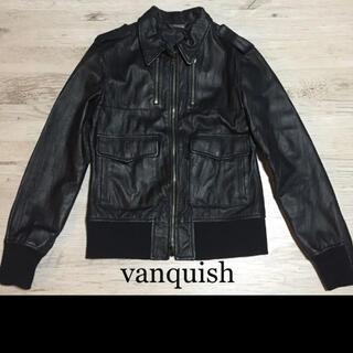 ヴァンキッシュ(VANQUISH)のvanquish ヴァンキッシュ バンキッシュ レザー バッファローボブス(レザージャケット)