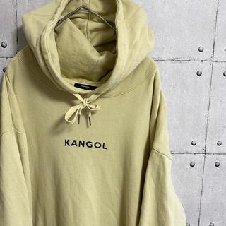 カンゴール(KANGOL)のカンゴール×roshell 刺繍ロゴ パーカー プルオーバー ベージュ(パーカー)