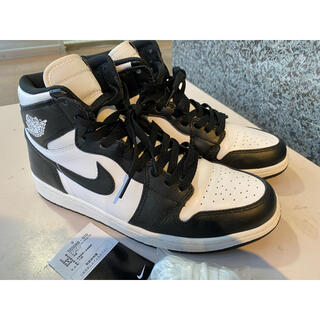 NIKE -  NIKE AIR JORDAN 1 RETRO HIGH OG 黒×白 美品