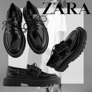 ZARA - ZARAトップスステッチシューズ