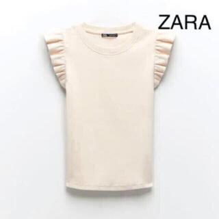 ZARA - ZARA♡ザラ♡ヴァニレ♡ユニクロ♡ジーユー♡フリルTシャツ♡石井美保さん着用