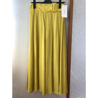 Mila Owen - 《新品タグ付き》ミラオーウェン ベルト付きスカート風パンツ