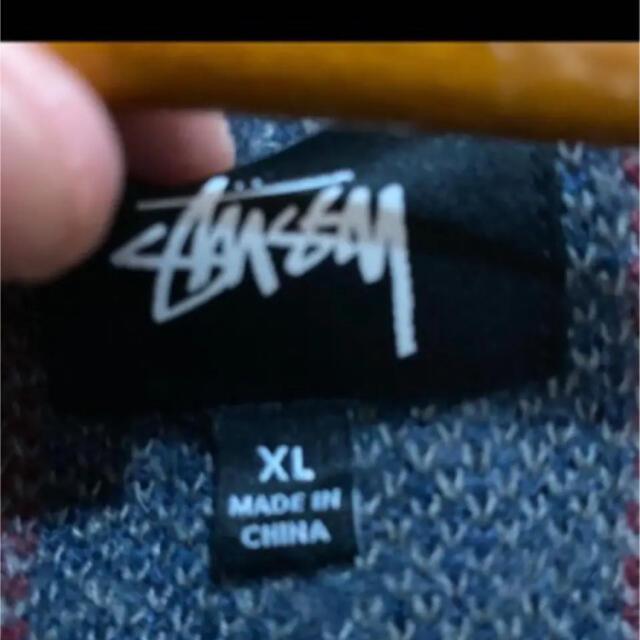 STUSSY(ステューシー)のstussy カーディガン XL メンズのトップス(カーディガン)の商品写真