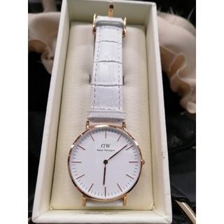 ダニエルウェリントン(Daniel Wellington)のダニエルウェストン腕時計 36mmGOLD縁×ホワイトベルト(腕時計)
