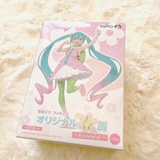 タイトー(TAITO)の初音ミクオリジナルフィギュア 春服ver(ゲームキャラクター)