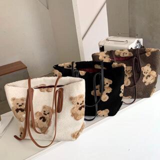 しまむら - 【格安】まとめ売り 新品 teddy bear ボア トートバッグ 3色セット
