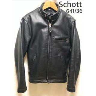 schott - schott 641 シングルライダースジャケット/36