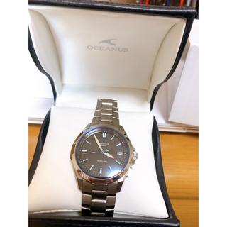 カシオ(CASIO)のソーラー充電 電波時計 腕時計 カシオ オシアナス(腕時計(アナログ))