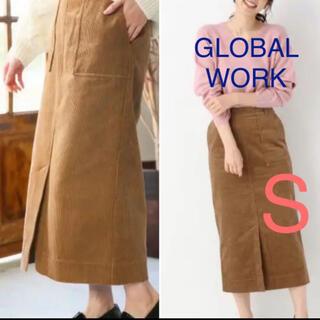 GLOBAL WORK - グローバルワーク コーデュロイタイトスカート S ブラウン