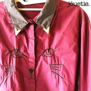 jouetie - 【jouetie】スチームパンク衿先チップ 猫顔刺繍 ハーフカラーシャツ
