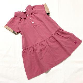BURBERRY - 【バーバリー チルドレン】3T ワンピース 半袖 チェック Tシャツ ポロシャツ