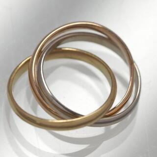 カルティエ(Cartier)のCartier カルティエ 3連 トリニティ イエロー/ホワイト/ピンクゴールド(チャーム)