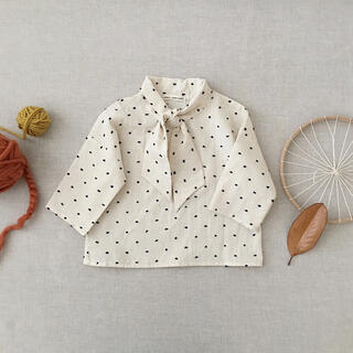 Caramel baby&child  - soor ploom Ivy Blouse Swiss Dot 4y