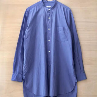 COMOLI - 最終値下げ comoli バンドカラーシャツ コモリ ブルー